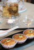Grafici a torta dell'agnello Fotografie Stock