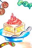 Grafici a torta dolci Fotografie Stock