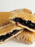 Grafici a torta dolci della casella della mora Fotografie Stock Libere da Diritti