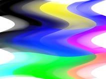 Grafici variopinti fluidi del fondo di frequenza viva, fondo astratto e struttura fotografia stock