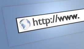 grafico 3D della barra di indirizzo Fotografia Stock Libera da Diritti
