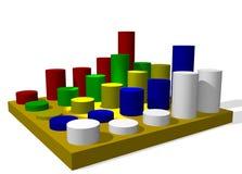 grafico 3D o schema Fotografia Stock