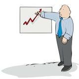 Grafico ascendente Fotografia Stock Libera da Diritti
