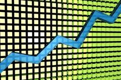 Grafico aumentante illustrazione di stock