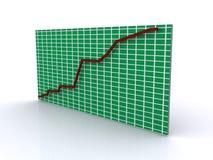 Grafico aumentante Fotografie Stock