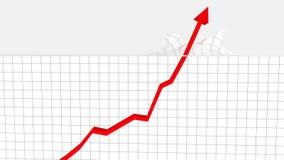 Grafico aumentante che attraversa il soffitto Fotografie Stock Libere da Diritti