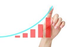 Grafico in aumento Immagini Stock