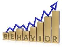 Grafico in aumento di comportamento illustrazione vettoriale