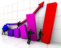 Grafico bilding di Businessmans Immagine Stock