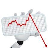 Grafico che va giù Fotografie Stock