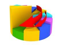 Grafico colorato illustrazione vettoriale