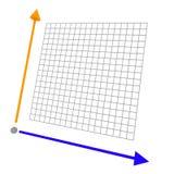 Grafico colorato 3d con la griglia Fotografie Stock