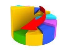 Grafico colorato con la freccia illustrazione vettoriale