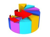Grafico colorato con le frecce illustrazione vettoriale