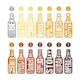 Grafico a colori della birra illustrazione vettoriale