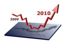 Grafico commerciale 2010 Immagini Stock