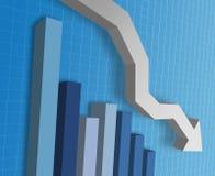 Grafico commerciale illustrazione di stock