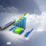 Grafico commerciale con il diagramma Immagini Stock