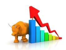 Grafico commerciale con il toro Immagine Stock Libera da Diritti