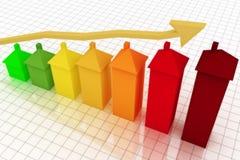 Grafico commerciale con la freccia Immagine Stock