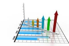 Grafico commerciale con la freccia Illustrazione di Stock
