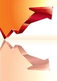 Grafico commerciale con la freccia Fotografie Stock