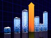 Grafico commerciale. Concetto di successo illustrazione vettoriale