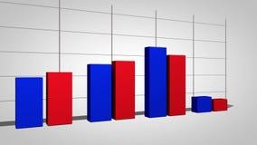 Grafico commerciale della crescita della produttività stock footage