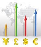 Grafico commerciale di valuta Immagine Stock Libera da Diritti