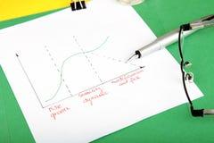 Grafico commerciale di vita dell'azienda Fotografia Stock Libera da Diritti