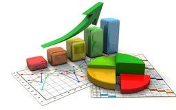 Grafico commerciale, diagramma, schema, barra Fotografie Stock Libere da Diritti