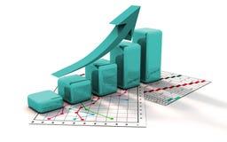 Grafico commerciale, diagramma, schema, barra Immagine Stock