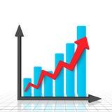 Grafico commerciale e diagramma Fotografia Stock Libera da Diritti