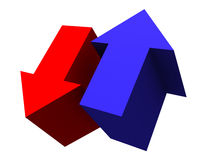 Grafico commerciale. Frecce Fotografie Stock Libere da Diritti