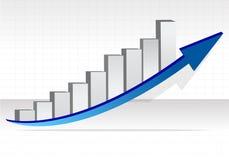 Grafico commerciale. Illustrazione di successo di affari Fotografie Stock