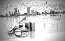 Grafico commerciale, schema, grafico del diagramma Immagine Stock
