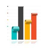 Grafico commerciale a spirale, modello dell'istogramma, elemento di infographics illustrazione di stock