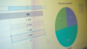 Grafico con i dati sullo schermo archivi video