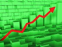 Grafico con la freccia Immagine Stock Libera da Diritti