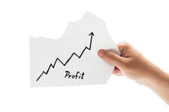 Grafico crescente di profitto Fotografia Stock