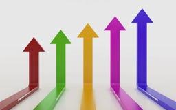 Grafico 3d del grafico della freccia Immagine Stock Libera da Diritti