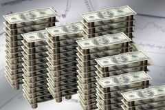 Grafico dei soldi Fotografia Stock