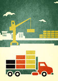 Grafico del camion del carico Immagini Stock