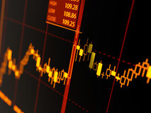 Grafico del candeliere Fotografie Stock