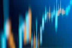 Grafico del grafico del candeliere di affari del commercio di investimento del mercato azionario Fotografia Stock