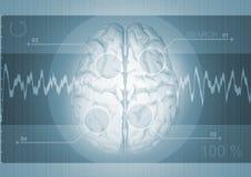 Grafico del cervello Fotografie Stock Libere da Diritti