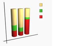 Grafico del cilindro Immagini Stock