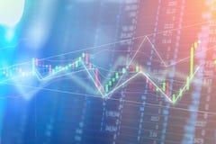 Grafico del commercio di investimento del mercato azionario Fotografia Stock Libera da Diritti