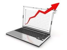 Grafico del computer portatile Fotografie Stock Libere da Diritti