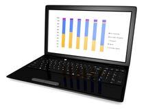 Grafico del computer portatile Fotografia Stock Libera da Diritti